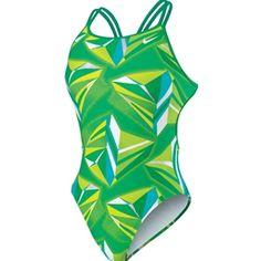 Nike+Womens/Girls+Jagged+Geo+Spider+Back+Tank+One-Piece+Swimsuit