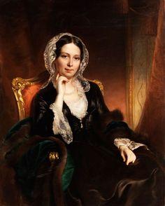 """Portrait of Countess Schwarzenberg"" -- the circle of Franz Xaver Winterhalter (German, 1805–1873)"