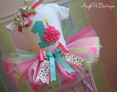Baby Girl's First Birthday Outfit -