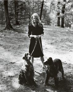 Gwyneth and her dogs! Beautiful!