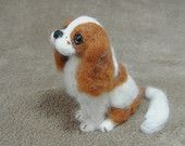 Needle Felted Dog / Custom Miniature Sculpture of your Cavalier King Charles Spaniel - OOAK / Small size (A)