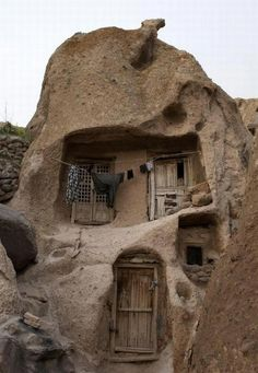 old Stone Houses in Iran