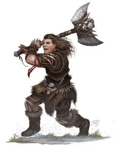 Kellid Barbarian by Akeiron.deviantart.com on @deviantART