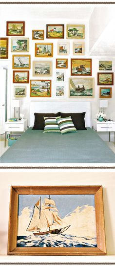 nautical design and organization : #home #bedrooms