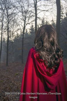 Trevillion Images - woman-in-red-cape-in-forest