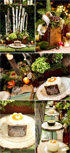 Green Woodland Wedding Ceremony Decoration with Nature Blending Concepts #rustic wedding