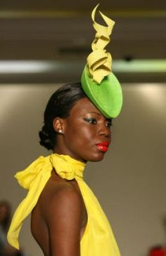 Models wear hats by Philip Treacy, British hat designer, during the fashion show at Neiman Marcus on Tuesday, Jan. 29, 2008 in Houston, TX. Photo: Mayra Beltran, Houston Chronicle / HC
