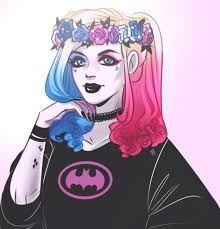 "Harley batman Better than that ""Suicide Squad"" movie look. Joker Und Harley Quinn, Harley Quinn Drawing, Harley Batman, Dc Comics, Harely Quinn, Gotham Girls, Arte Disney, Red Hood, Jolie Photo"