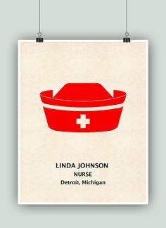 Nurse Art Nurse Appreciation Gift Personalized por DigitalArtLand