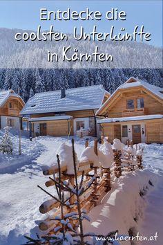 Auf der Suche nach coolen Unterkünften für deinen Winterurlaub? Überrasche deinen Liebsten mit einer Übernachtung in einem Winterchalet in den Bergen, in einem Troadkasten, in einer Sunset Suite oder in einem Biwak unter den Sternen! Hier findest du die außergewöhnlichsten Unterkünfte für deinen Kärnten Urlaub. #visitcarinthia #kaernten #winterurlaub #wochenendtrip #urlaubinoesterreich #paarurlaub #wellnessurlaub Bergen, Snow, Outdoor, Earth House, Winter Vacations, Ski, Searching, Summer, Pictures
