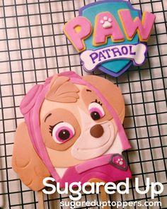 Skye Fondant Cake Topper // Paw Patrol Party