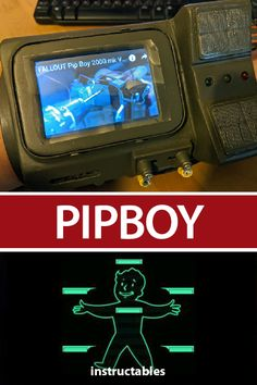 Build a working Pipboy from various scrap and electronic components. Pip Boy 2000, Perlin Noise, Foam Flooring, Box Tv, Masking Tape, Arduino, Projects To Try, Give It To Me, Workshop