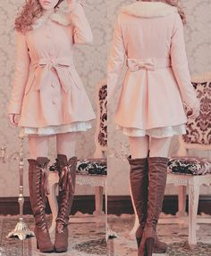 The coat n the boots omg sooo adorable liz lisa, cute fashion, gyaru fashion Fashion 90s, Gyaru Fashion, Kawaii Fashion, Lolita Fashion, Cute Fashion, Asian Fashion, Look Fashion, Trendy Fashion, Fashion Outfits