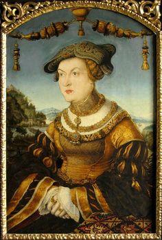 Jakobaea of Baden,Duchess of Bavaria by Hans Schwab von Wertinger