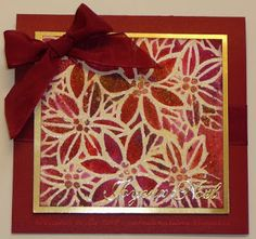 Cartes artisanales et autres projets artistiques de Liz: Défi Noël # 11 - Utilisation de 1 ou plusieurs pochoirs