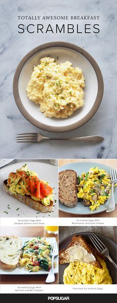11 Totally Awesome Breakfast Scrambles | When it comes to fast and easy breakfasts (or breakfast for dinner), scrambled eggs are king. Quick and easy, light, but satiating. Mix the classic up with these variations!