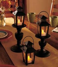 #803523018 Set of 3 Everyday LED Lanterns by sensationaltreasures