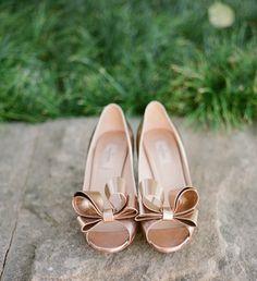 rose gold Valentino peep toes