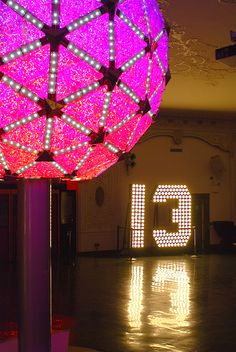 New Year Numerals 13 for New Year's Eve in Times Square