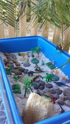 A dinosaur and a rocky dry river bed. Lovely activity for kids. A dinosaur and a rocky dry river bed. Lovely activity for kids. Dinosaurs Preschool, Dinosaur Activities, Sensory Activities, Infant Activities, Activities For Kids, Dinosaur Projects, Dinosaur Play, Camping Activities, Dinosaur Crafts Kids
