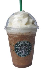 Mocha Frappacino with whipped cream- My other favorite Starbucks drink! -   Note:  Tried this to treat myself on a whim - Spontaniously with extra chocolate and it was heaven sent.