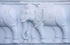 Elephants at Barsana Dham Wild Elephant, Asian Elephant, Elephant Love, Elephant Art, Emotional Drawings, Single Door Design, Beautiful Horse Pictures, Temple Design, Tanjore Painting