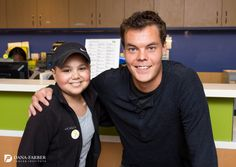 #Boston Bruins goalie Tuukka Rask recently visited young patients in Dana-Farber's Jimmy Fund Clinic.