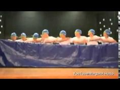 MAKE TIME TO WATCH THIS!~  This had me laughing out loud!  Fifth grade boys pretend to do synchronized swimming in a school talent show.  Creative!
