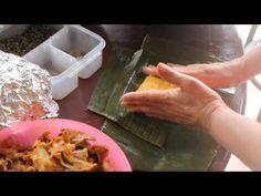 Tamales Panameños - Tendiendo Tamales - YouTube