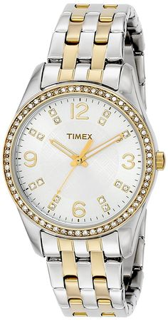 Timex Women's T2P389 Swarovski Crystal-Accented Stainless Steel Watch -- Read more reviews of the watch by visiting the link on the image.