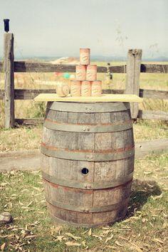 Maybe incorporate milk jugs into a centerpiece?? [DIY Carnival Wedding]