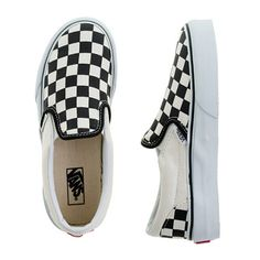 Kids' Vans® checkerboard slip-ons #skateboarder