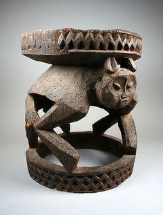 Prestige Stool: Leopard Base Prestige Stool: Leopard Base Date: 19th–20th century Geography: Cameroon, Western Grassfields region Culture: Bamileke Medium: Wood
