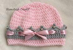 Girly Crocheted Crown Hat [FREE Crochet Pattern]                                                                                                                                                                                 More