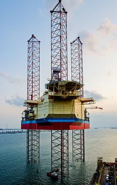 Maersk Intrepid in Singapore Worlds Largest Jack-up Drilling Rig,