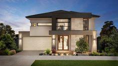Diseño de una hermosa y moderna casa de dos niveles construida en hormigón con un interesante trabajo con las estructuras frontales de la fachada y un techo que integra todo el modelo, además podr…