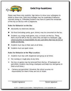 Education World: Field Trip Permission Slip Template   school ...