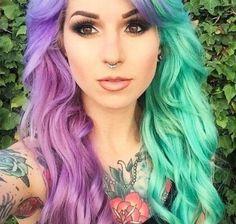 Hippe haarstijlen: split dyed hair | kapsels 2015-korte kapsels 2015 2016 - haarkleuren - kapsels voor dames - mannenkapsels - kinderkapsels - communiekapsels - bruidskapsels - online - modetrends 2015