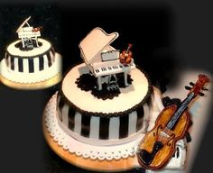 Cake with piano and violin