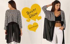 2016 осень женщины кимоно кардиган вязаный шифон блузка рубашка женский свободного покроя шифон кардиганы кимоно Большой размер XS 3XL 440 купить на AliExpress