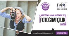 Sevdiklerinize En Anlamlı 8 Mart Hediyesi! http://www.fotografcilikkursu.com.tr/dunya-kadinlar-gunu-kampanyasi/ #fotolifeakademi #8Mart #fotoğrafkursu #fotoğrafçılıkeğitimi