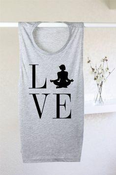 a5d39d94b1129 Items similar to Love Yoga Tank - Yoga Tank Top - Yoga Top - Yoga Clothes -  Yoga T Shirt - Yoga Tee - Yoga Lovers - Muscle Tank - Yoga Lover Tank ...