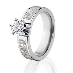 http://bestengagementringsreview.com/ , Meteorite Engagement Rings w/ 14k Prong by RenaissanceJewelry ✿