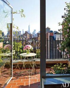 Issacs Mizrahi's Terrace Greenwich Village NYC what a million dollar view