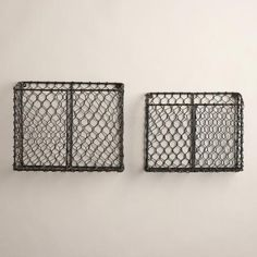 "Ryan Wire Baskets | World Market Medium: 12.75""W x 4""D x 10.75""H Large 14.5""W x 5.5""D x 12""H $24.99 large"