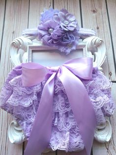 2pcs Lavender baby Bloomer setLavender by CositaBellaCreations