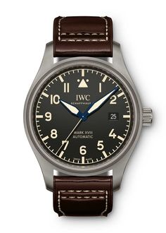 Pre-Owned Iwc Schaffhausen Iwc Pilot Xviii Heritage In Titanium Iwc Watches, Watches For Men, Pocket Watches, Wrist Watches, Iwc Chronograph, Iwc Pilot, Shoe Manufacturers, Luxury Watches, Omega Watch