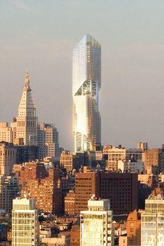 New York Tower, future, architecture, Manhattan Skyline, futuristic, skyscraper, building, Studio Daniel Libeskind, Madison Square Park, Metropolitan Life, structure future New York, ny, nyc, big apple