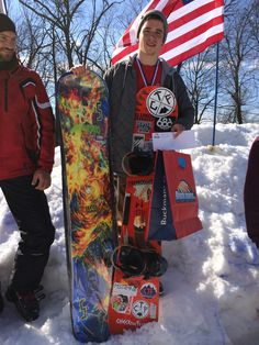 The grand prize winner of the Big Air Competition walked away with a brand new snowboard