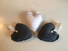 A personal favourite from my Etsy shop https://www.etsy.com/uk/listing/255036774/set-of-3-padded-christmas-heart
